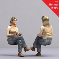 aXYZ design - AWom0004-Se / 3D Human for superior visualizations 3D Model
