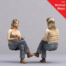 aXYZ design - AWom0004-Se / 3D Human for superior visualizations 3D Model