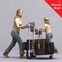 aXYZ design - AWom0004-Wa / 3D Human for superior visualizations 3D Model
