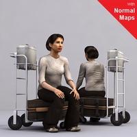 aXYZ design - AWom0005-Se / 3D Human for superior visualizations 3D Model