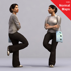 aXYZ design - AWom0005-St / 3D Human for superior visualizations 3D Model