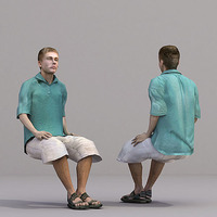 aXYZ design - CMan0018-Se / 3D Human for superior visualizations 3D Model