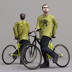 aXYZ design - CMan0019-Bike / 3D Human for superior visualizations 3D Model