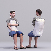 aXYZ design - CMan0016-Se / 3D Human for superior visualizations 3D Model