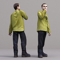 aXYZ design - CMan0019-St / 3D Human for superior visualizations 3D Model