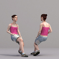 aXYZ design - CWom0018-Se / 3D Human for superior visualizations 3D Model