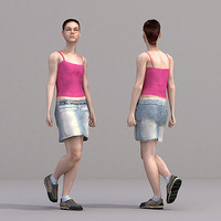 aXYZ design - CWom0018-Wa / 3D Human for superior visualizations 3D Model