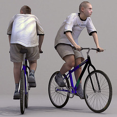 aXYZ design - CMan0020-Bike / 3D Human for superior visualizations 3D Model