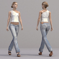 aXYZ design - CWom0019-Wa / 3D Human for superior visualizations 3D Model