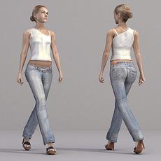 aXYZ design - CWom0019-Wa / 3D Human for superior visualizations 3D Model