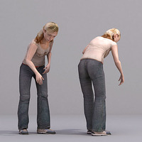 aXYZ design - CWom0020-St / 3D Human for superior visualizations 3D Model
