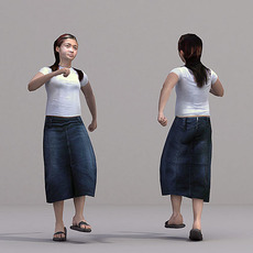aXYZ design - CWom0022-Sk / 3D Human for superior visualizations 3D Model