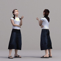 aXYZ design - CWom0022-St / 3D Human for superior visualizations 3D Model