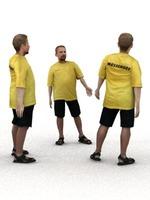 aXYZ design - SMan0002-St / 3D Human for superior visualizations 3D Model