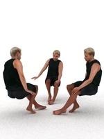 aXYZ design - SMan0003-Se / 3D Human for superior visualizations 3D Model