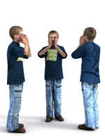 aXYZ design - CBoy0002-St / 3D Human for superior visualizations 3D Model