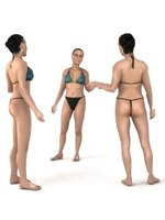 aXYZ design - SWom0005-St / 3D Human for superior visualizations 3D Model