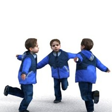 aXYZ design - CBoy0004-Ru / 3D Human for superior visualizations 3D Model
