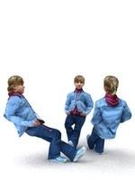 aXYZ design - CGirl0002-Se / 3D Human for superior visualizations 3D Model