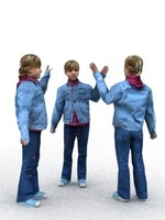 aXYZ design - CGirl0002-St / 3D Human for superior visualizations 3D Model