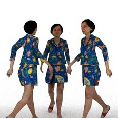 aXYZ design - CWom0012-Wa / 3D Human for superior visualizations 3D Model