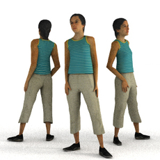aXYZ design - CWom0009-St / 3D Human for superior visualizations 3D Model