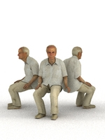 aXYZ design - CMan0007-Se / 3D Human for superior visualizations 3D Model