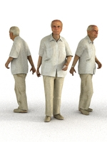 aXYZ design - CMan0007-Wa / 3D Human for superior visualizations 3D Model