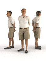 aXYZ design - CMan0006-St / 3D Human for superior visualizations 3D Model