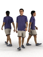 aXYZ design - CMan0008-Wa / 3D Human for superior visualizations 3D Model