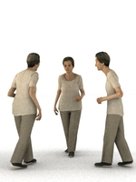 aXYZ design - CWom0008-Wa / 3D Human for superior visualizations 3D Model