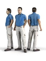 aXYZ design - CMan0001-St / 3D Human for superior visualizations 3D Model