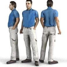 aXYZ design - CMan0001-St / 3D Human for superior visualizations 3D Model