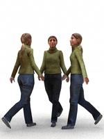aXYZ design - CWom0007-Wa / 3D Human for superior visualizations 3D Model