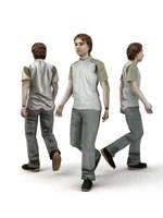 aXYZ design - CMan0002-Wa / 3D Human for superior visualizations 3D Model
