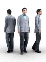 aXYZ design - CMan0005-Wa / 3D Human for superior visualizations 3D Model