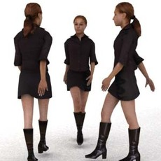 aXYZ design - BWom0009-Wa / 3D Human for superior visualizations 3D Model