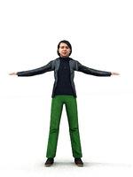 aXYZ design - CWom0004-CS / Rigged for 3D Max + Character Studio 3D Model