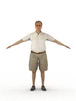 aXYZ design - CMan0006-CS / Rigged for 3D Max + Character Studio 3D Model