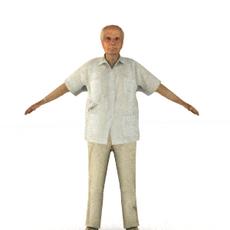 aXYZ design - CMan0007-CS / Rigged for 3D Max + Character Studio 3D Model