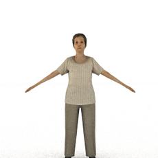 aXYZ design - CWom0008-CS / Rigged for 3D Max + Character Studio 3D Model