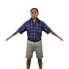 aXYZ design - CMan0014-CS / Rigged for 3D Max + Character Studio 3D Model