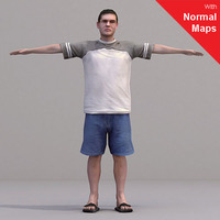 aXYZ design - CMan0016-CS / Rigged for 3D Max + Character Studio 3D Model