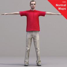 aXYZ design - CMan0017-CS / Rigged for 3D Max + Character Studio 3D Model