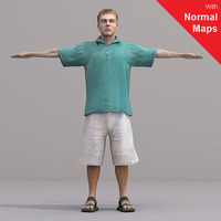 aXYZ design - CMan0018-CS / Rigged for 3D Max + Character Studio 3D Model