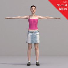 aXYZ design - CWom0018-CS / Rigged for 3D Max + Character Studio 3D Model