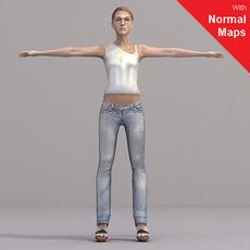 aXYZ design - CWom0019-CS / Rigged for 3D Max + Character Studio 3D Model