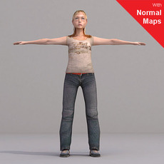 aXYZ design - CWom0020-CS / Rigged for 3D Max + Character Studio 3D Model