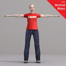 aXYZ design - CWom0021-CS / Rigged for 3D Max + Character Studio 3D Model