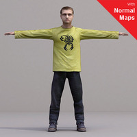 aXYZ design - CMan0019-CS / Rigged for 3D Max + Character Studio 3D Model